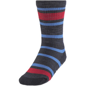 Smartwool Striped Hike Light Crew Socks Kids Deep Navy